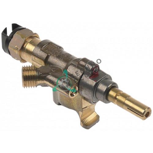 Кран газовый SABAF 10 ø16мм дюза ø0,52мм 1/4 (трубка ø8мм) ось 8x6,5мм 31274500 31275000 для Bertos