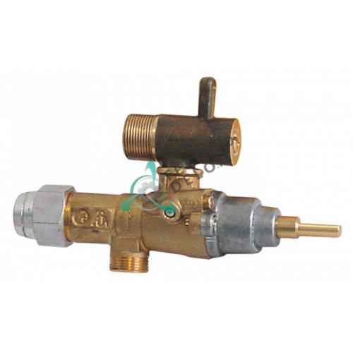 Кран газовый (аналог) EGA GPEL20D M15x1 дюза ø0,35мм M17x1 M8x1 M10x1 ось 6x4,6мм кухонного теплового оборудования