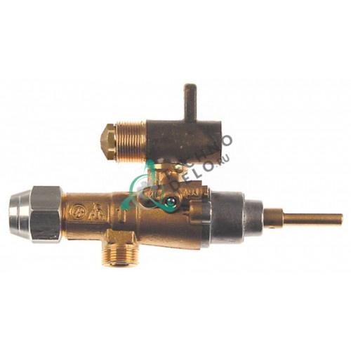 Кран газовый (аналог EGA) GPEL20D M15x1 трубка ø10мм дюза ø2,2/ø0,6/ø0,35мм M17x1 M8x1 ось 8x5,5мм