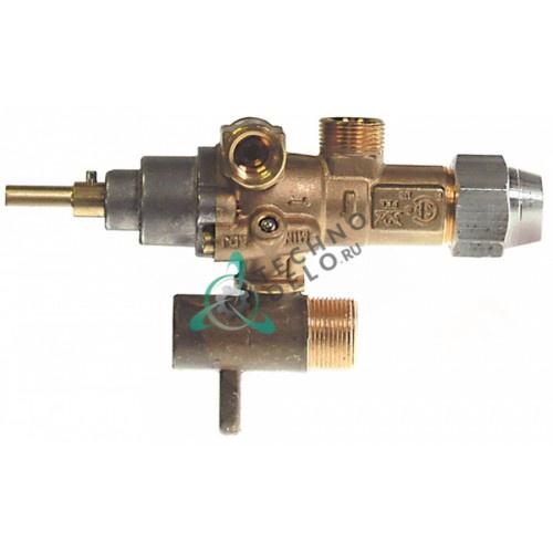 Кран газовый (аналог EGA) GPEL21R M15x1 трубка ø10мм ø0,35мм M17x1 M8x1 M10x1 ось 6x4,6мм 831743 для Palux