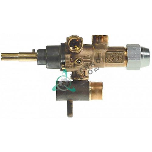 Кран газовый (аналог EGA) GPEL21D M15x1 трубка ø10мм ø0,35мм M17x1 M8x1 M10x1 ось 8x6,5мм 52110220 для Lohberger