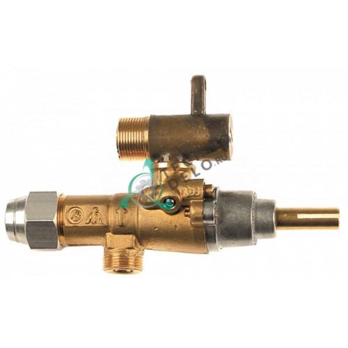Кран газовый (аналог EGA) GPEL20D M15x1 трубка ø10мм ø0,35мм M17x1 M8x1 ось 8x5,5мм для профессиональной плиты