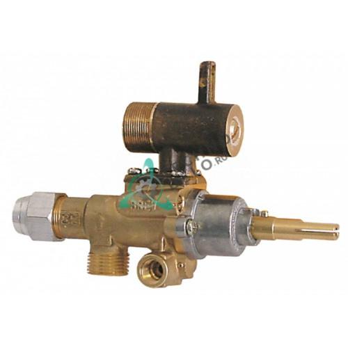 Газовый кран аналог EGA PEL22S M18x1,5 трубка ø12мм дюза ø0,35мм 94411 112721 ось 9x6,5мм для Heidebrenner, Malag