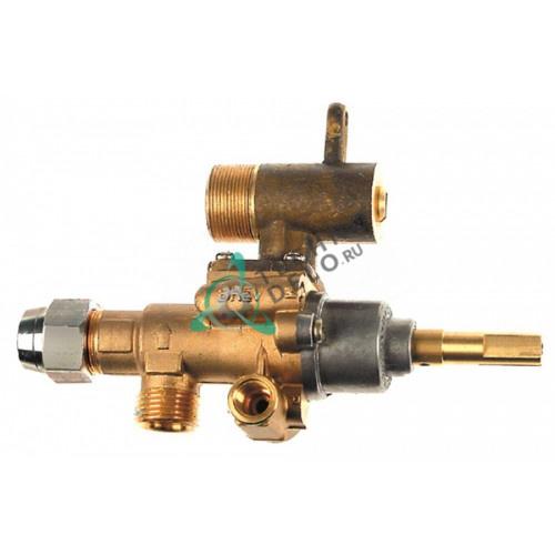 Кран газовый (аналог EGA) GPEL22D M18x1,5 трубка ø12мм дюза ø0,35мм M22x1 M8x1 M10x1 ось 9x6,5мм для Heidebrenner