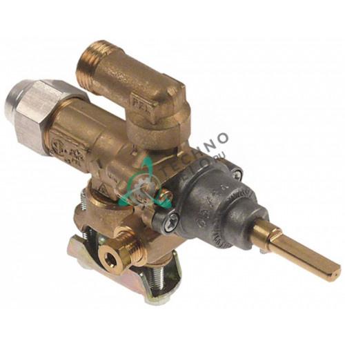Кран газовый PEL 21S/O (жиклёр ø0,7мм M16x1,5 ось 6x4,6мм)
