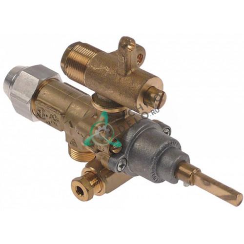 Кран газовый (аналог EGA) GPEL21D M15x1 трубка ø10мм ø1,4/0,8/0,35мм M17x1 M8x1 M10x1 ось 6x4,6мм для Krefft, Küppersbusch