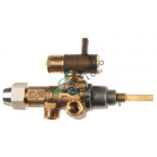 Кран газовый (аналог EGA) GPEL21D M15x1 трубка ø10мм дюза ø1,85мм M17x1 M8x1 M10x1 ось 6x4,6 мм для Krefft, Küppersbusch