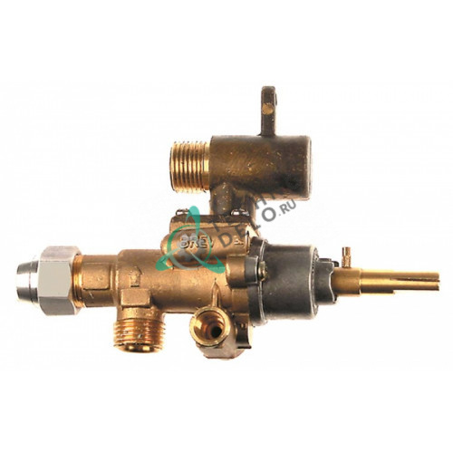 Кран газовый (аналог EGA) GPEL22R M18x1,5 трубка ø12мм ø0,35мм M18x1,5 M8x1 M10x1 ось 9x6,5мм для плиты