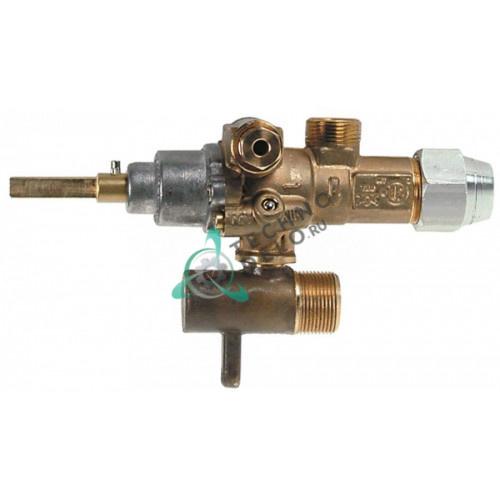 Кран газовый (аналог) EGA GPEL21R M15x1 трубка ø10мм ø0,35 M17x1 M8x1 M10x1 ось 6x4,6мм для Küppersbusch