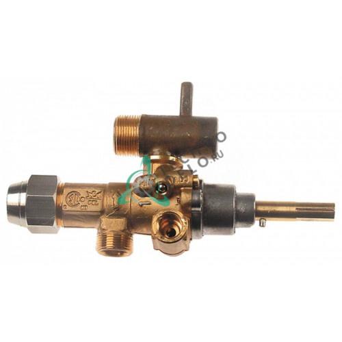 Кран газовый (аналог) EGA GPEL21R M15x1 трубка ø10мм ø1,1мм M17x1 M8x1 M10x1 ось 6x4,6мм для Küppersbusch