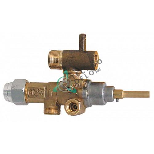 Кран газовый (аналог) EGA GPEL21D M15x1 трубка ø10мм ø1,4/ø4,2мм M17x1 M8x1 M10x1 ось 6x4,6мм для Küppersbusch