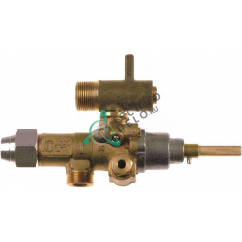 Кран газовый (аналог) EGA GPEL21D M15x1 трубака ø10мм дюза ø4,2/1,8/ø1,1мм M17x1 M8x1 M10x1 ось 6x4,6мм для Küppersbusch