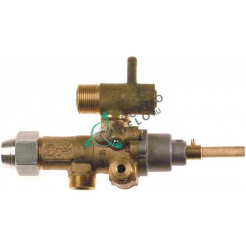 Кран газовый (аналог) EGA GPEL21D M15x1 трубака ø10мм дюза ø4,2/2,05/1,25мм M17x1 M8x1 M10x1 ось 6x4,6мм для Küppersbusch