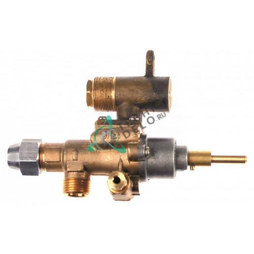 Кран газовый (аналог) EGA GPEL22D M18x1,5 трубака ø12мм дюза ø4,4/2,5/1,65мм M22x1 M8x1 M10x1 ось 6x4,6мм для Küppersbusch