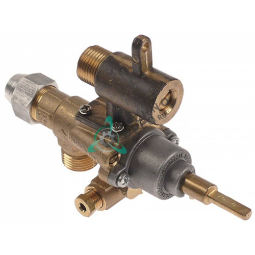 Кран газовый (аналог EGA) GPEL22RD M18x1,5 трубка ø12мм дюза ø0,5мм M18x1,5 M8x1 M10x1 ось 6x4,6мм для Küppersbusch