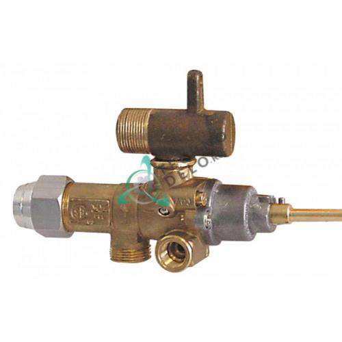 Кран газовый (аналог EGA) GPEL21 M15x1 трубка ø10мм дюза ø0,6мм M17x1 M8x1 M10x1 ось 6x4,6мм для Küppersbusch