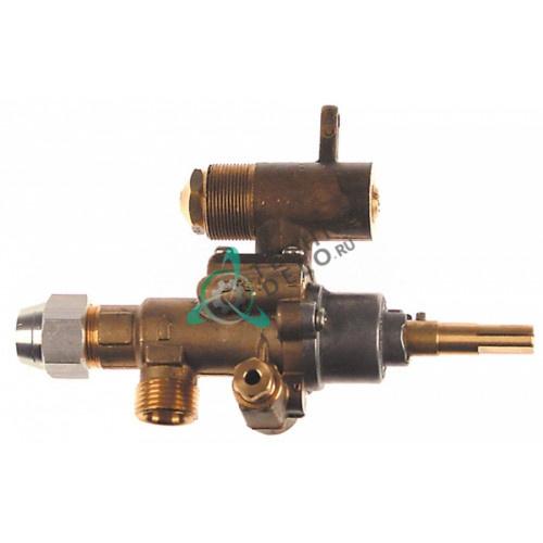 Кран газовый (аналог EGA) GPEL22D M18x1,5 трубка ø12мм дюза ø2,1/ø0,35мм M22x1 M8x1 M10x1 ось 9x6,5мм для Malag