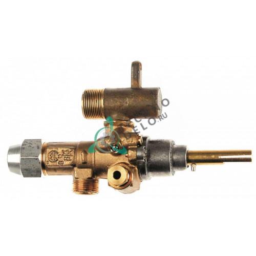Кран газовый (аналог EGA) GPEL21R M15x1 трубка ø10м дюза ø0,55мм M17x1 M10x1 ось 8x7мм  0H6053 0K0215 для Electrolux