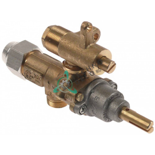 Кран газовый (аналог EGA) GPEL20D M15x1 трубка ø8мм дюза ø2,2/ø0,6/ø0,35мм M17x1 M8x1 ось 8x5,5мм для Schöler