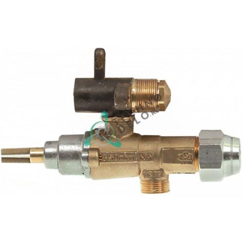 Кран газовый (аналог EGA) GPEL20D M15x1 трубка ø8мм дюза ø2,6/ø0,95/ø0,7мм M17x1 M8x1 ось 8x5,5мм 16104 для Raulwing