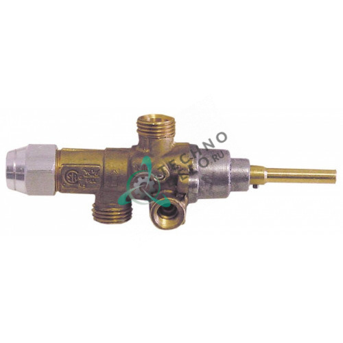 Кран газовый PEL 21S (M16x1,5 ось 6x4,6мм) 1031500200 для Mareno, Olis, Silko и др.