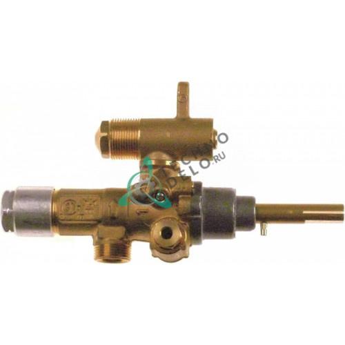 Кран газовый (аналог EGA) GPEL21D M15x1 трубка ø10мм ø2,05/ø1,05/ø0,55мм M17x1 M10x1 ось 8x7мм 0H6396 для Electrolux