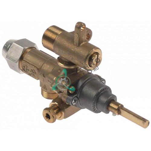 Газовый кран аналог EGA GPEL21D M15x1 трубка ø10мм дюза ø1,4/ø0,35мм M17x1 M8x1 M10x1 для Küppersbusch и др.