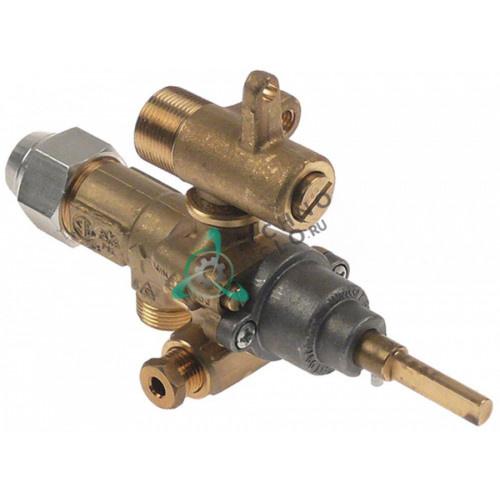 Кран газовый аналог EGA GPEL21D M15x1 трубка ø10мм дюза ø1,8/ø0,35мм M17x1 M8x1 M10x1 ось 6x4,6мм для Küppersbusch