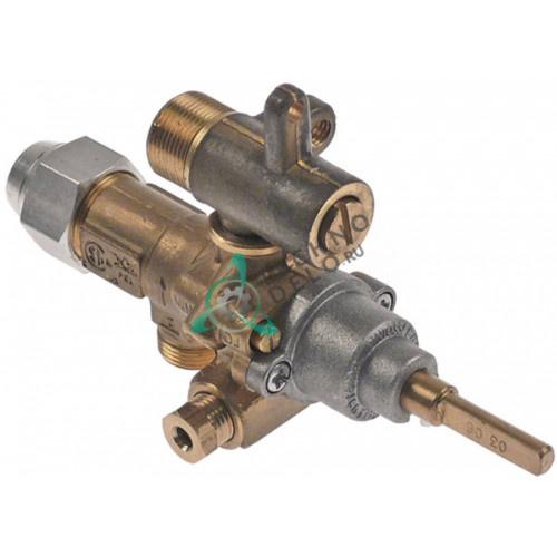 Кран газовый (аналог) EGA GPEL21D M15x1 трубка ø10мм ø4,2/2,05/0,35мм M17x1 M8x1 ось 6x4,6мм для Küppersbusch