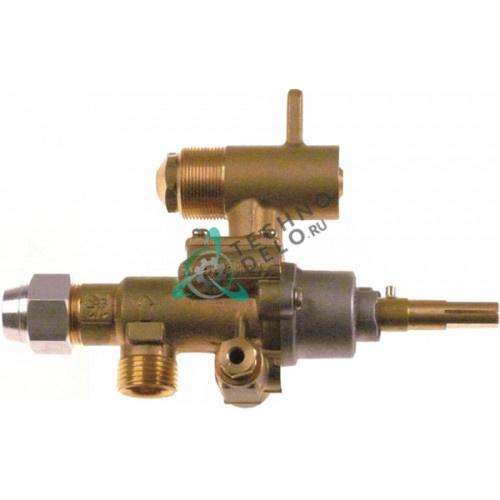 Кран газовый (аналог EGA) PEL22S M18x1,5 трубака ø12мм дюза ø1,6/ø1/ø0,35мм M8x1 M10x1 ось 9x6,5мм 112721 112722 для Malag