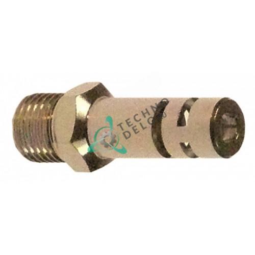 Головка конфорочной горелки никелированная латунь ø6 отверстия ø3мм M7x0,75мм ключ 8 для газовой плиты
