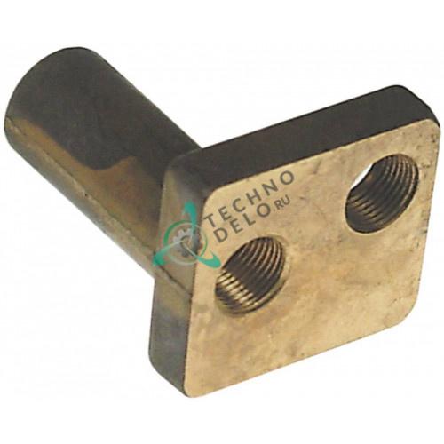 Верхняя часть горелки конфорочной с резьбой (два отверстия) для свечи зажигания теплового оборудования Therma