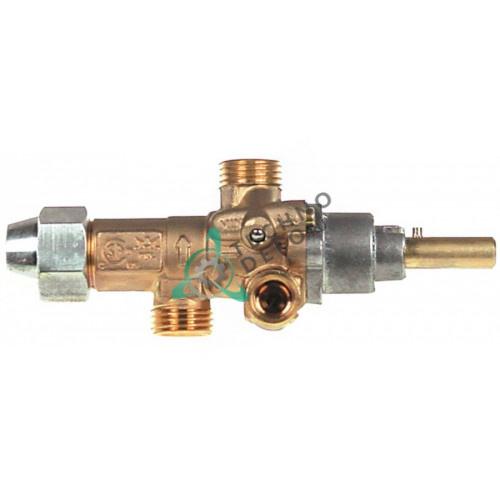 Кран газовый PEL 21S (M16x1,5 жиклёр 0,75мм ось 8x6,5мм) 531032000 для Lotus и др.