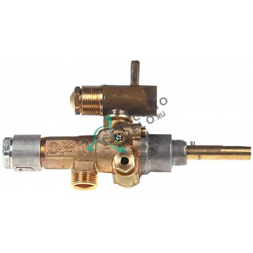 Кран газовый (аналог EGA) GPEL21D M15x1 трубка ø10мм дюза ø1,35/ø0,66/ø0,35мм ось 8x7мм 0H6397 101983 для Electrolux