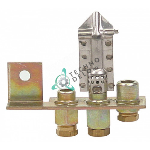 Горелка газовая Polidoro 3-х пламеная подключение 6мм 12037976 ICR08122 для Baron SERIE700, Fagor MBG-200, Icos, Lotus и др.