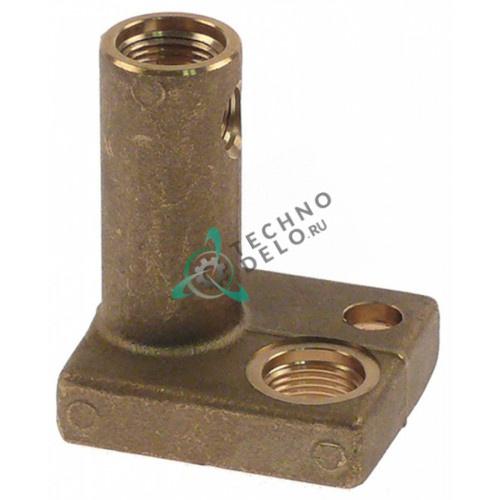 Верхняя часть горелки конфорочной для электрода зажигания с винтовым соединение Ascobloc, Küppersbusch, Palux