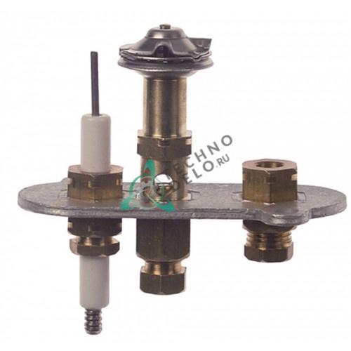 Горелка ERTA правая двух пламенная природный газ подключение 6 мм для конфорки теплового оборудования