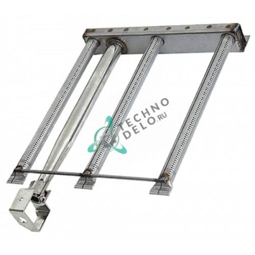 Горелка стержневая 3-х рядная 484x340x55мм MACM081402 для гриль-плиты Mareno FT74GL, FT74GLC и др.