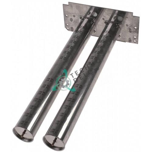 Горелка стержневая двойная ø50мм 500x240x110мм LAR63015020 для печи Lainox MG110, VG110 и др.