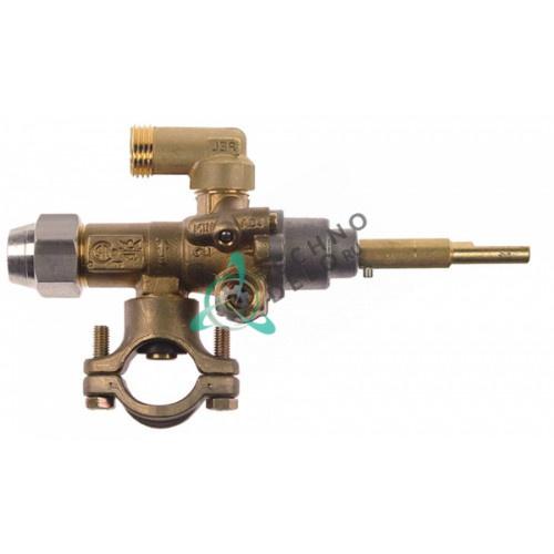 Кран газовый PEL 21S/O (M16x1,5 ось 6x4,6мм) 0KI367 для плиты Electrolux AGGRAAGOOM и др.