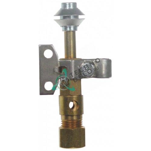 Горелка конфорки Robertshaw 9BV H-28мм 3-х пламенная природный/сжиженный газ 1/4 CCT для теплового оборудования