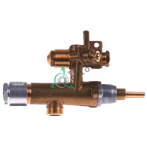 Кран газовый EGA 26400 8мм трубка M8 ось 6x4,6мм 169498 для теплового оборудования Palux 641/642/643/640 и др.