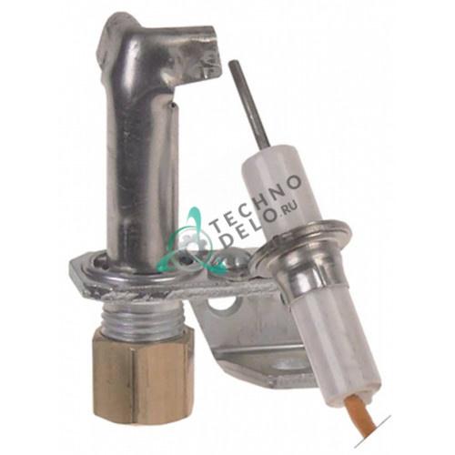 Горелка конфорки Robertshaw 5SL-2 код 18 2-х пламенная природный газ 3/16 CCT Imperial USA IR-Serie, IR2000-Series, ISAE-Griddle
