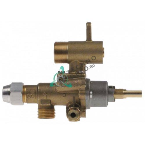 Кран газовый (аналог EGA) GPEL22D M18x1,5 трубка ø12мм дюза ø0,5мм M22x1 M8x1 M10x1 ось 9x6,5мм 94700 для Heidebrenner