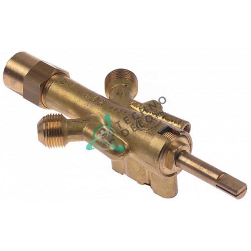 """Кран газовый GAI G-1 ADB (3/8"""" M8x1 ось 8x6.5x36/12мм) 508005 для Jemi"""