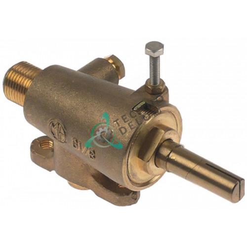 """Кран газовый GAI (3/8""""-1/8"""" M10x1 ось 10x8x35/15мм)"""