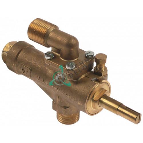"""Кран газовый GAI (1/2"""" M10x1/M9x1 ось 10x8x38/15мм) для Repagas"""