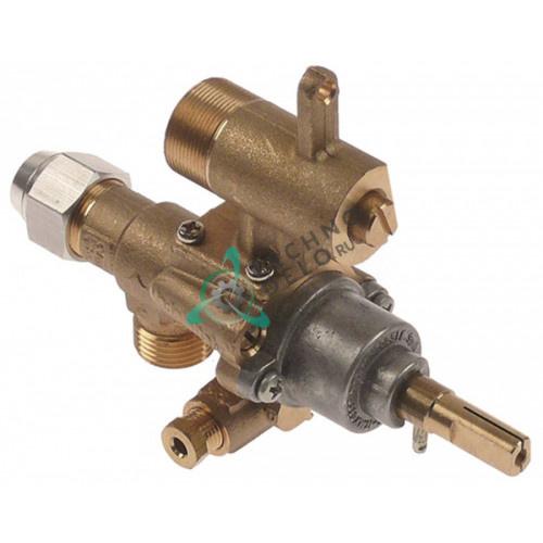 Кран газовый (аналог EGA)  GPEL22D M18x1,5 трубка ø12мм дюза ø0,35мм M22x1 M8x1 M10x1 ось 9x6,5мм 94701 для Heidebrenner