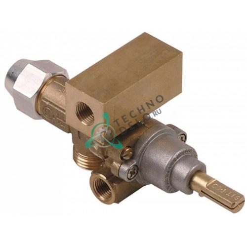 Кран газовый PEL 21S (M16x1,5 ось 8x6,5мм) для Bonnet, Thirode и др.