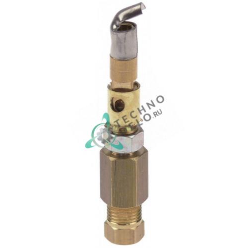 Горелка SIT серия 100 1 пламенная дюза d-0,35мм подключение 6мм RTCU700372 для плиты Apach, Dexion, MBM и др.